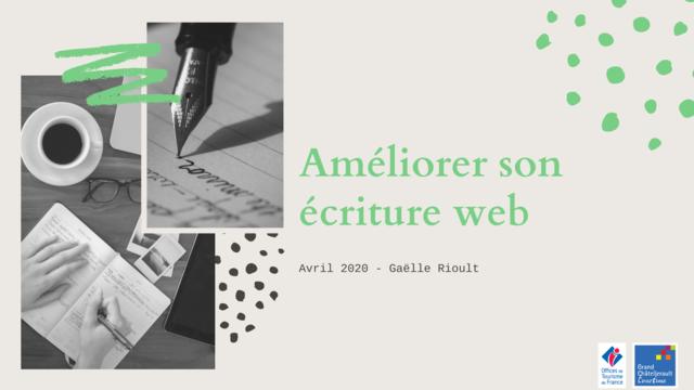 Améliorer son écriture web