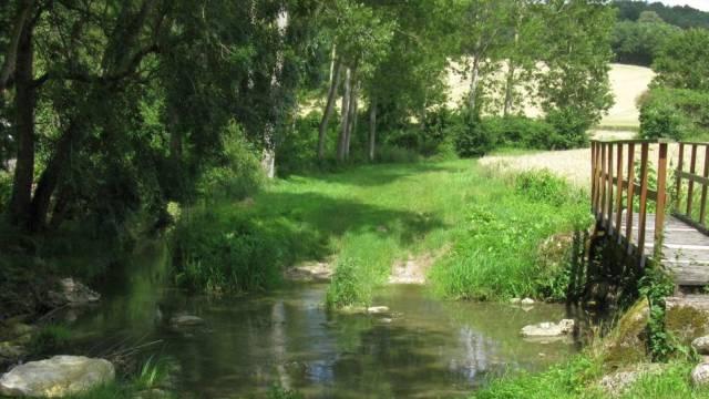 La Luire et la passerelle du Moulin-Chapeau.