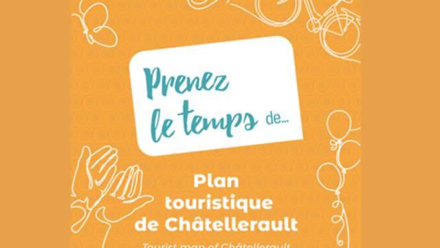 Plattegrond van Châtellerault