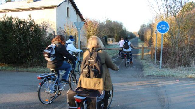 En vélo sur la Ligne Verte