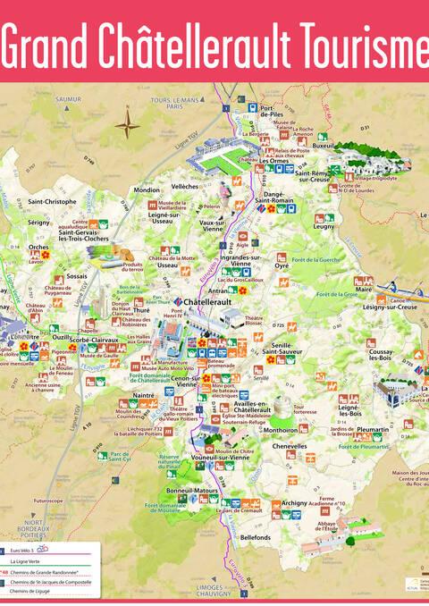 Carte touristique du territoire