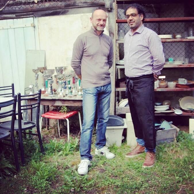 Christophe Levêque au service et Zouheir Bouchane en cuisine