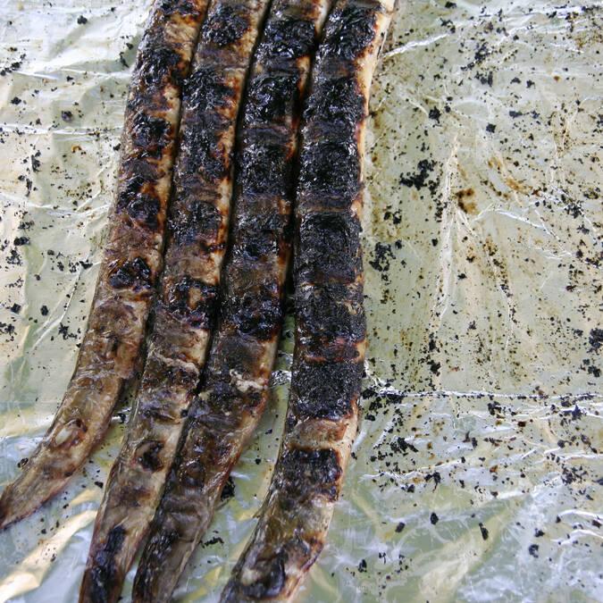 Les anguillettes grillées