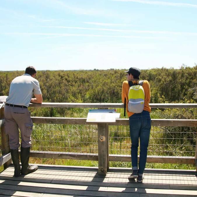 Hugo et Yann perchés sur un observatoire