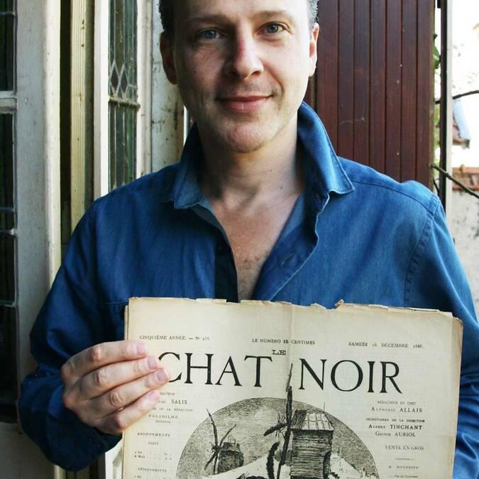 Fabrice Audy et le journal du Chat Noir